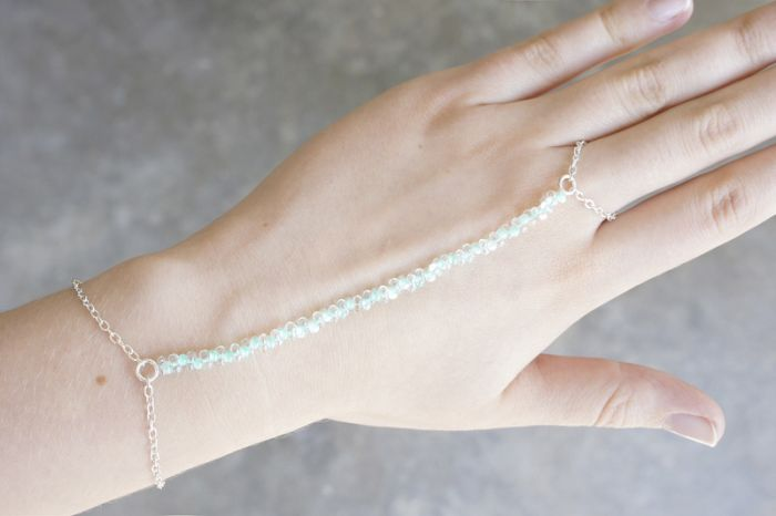 diy bracelet anneau chaine tuto étape par étape a faire soi meme perles
