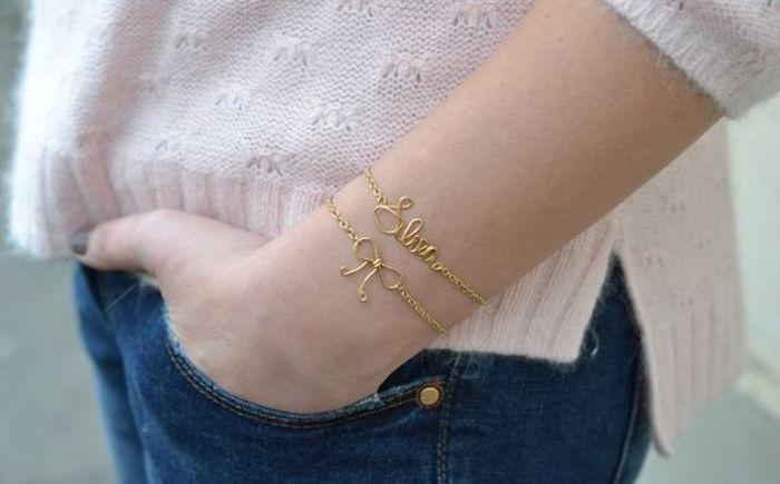 diy bracelet materiaux chaine doree a fabriquer soi meme idee