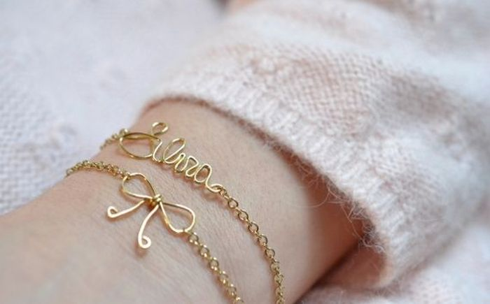 diy bracelet tendance matériaux pas cher chaine metal accessoires a porter idee