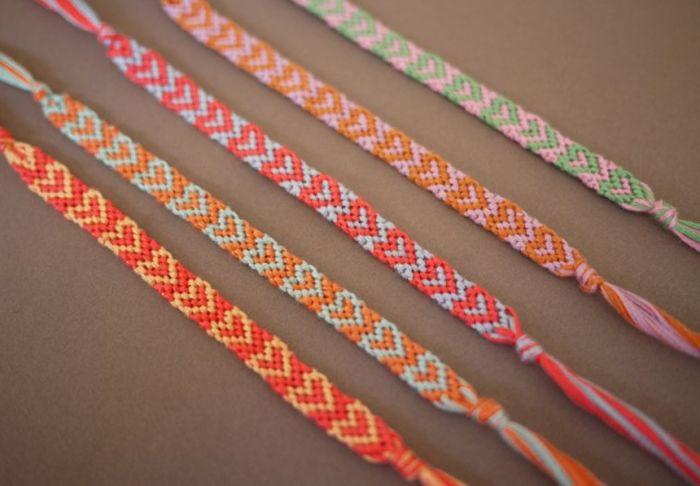 chevron diy bracelet accessoire corde textile idee fabrication