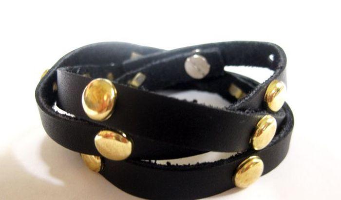 diy bracelet perles cuir activite manuelle modele a faire