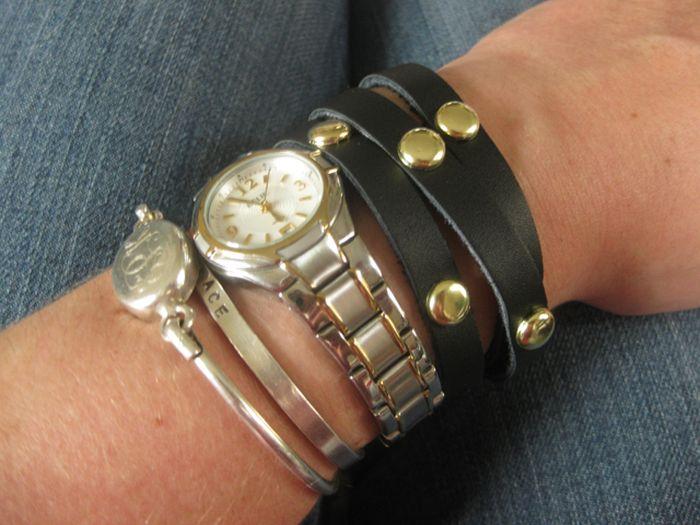 comment porter un diy bracelet perles cuir noir accessoires