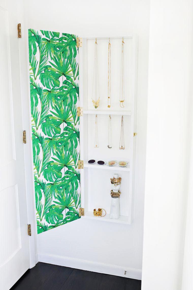 diy deco rangement mural bijoux chambre meuble avec porte