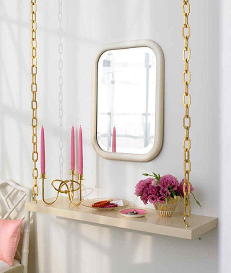 diy rangement chambre table de nuit suspendue chaine astuces deco rangement
