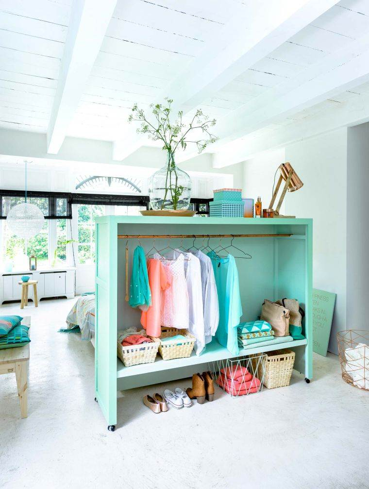 diy rangement chambre dressing fabriquer une tete de lit