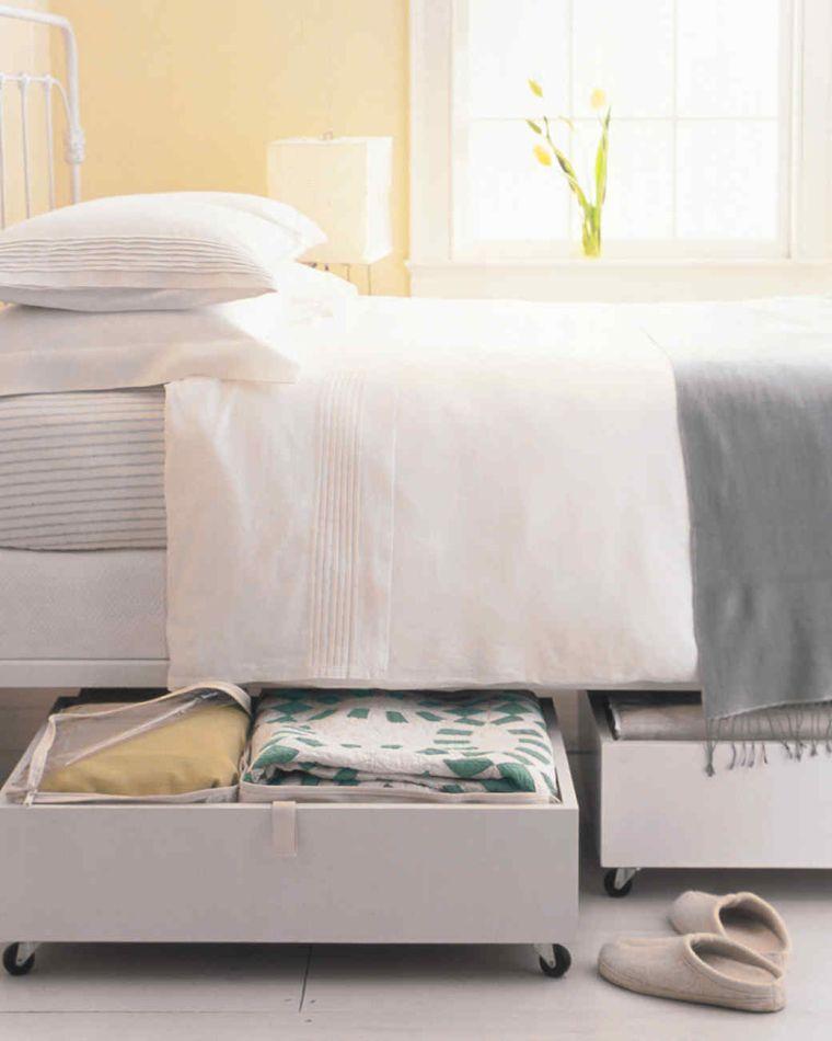 diy rangement chambre faire un meuble roulette sous lit rangement