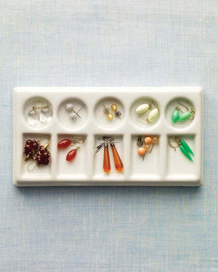 diy rangement chambre idee porte bijou palette à peindre