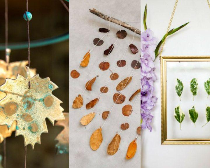 DIY suspension déco avec feuilles d'automne à fabriquer soi-même