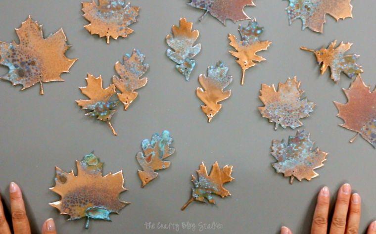 diy suspension déco automne-feuilles-mortes