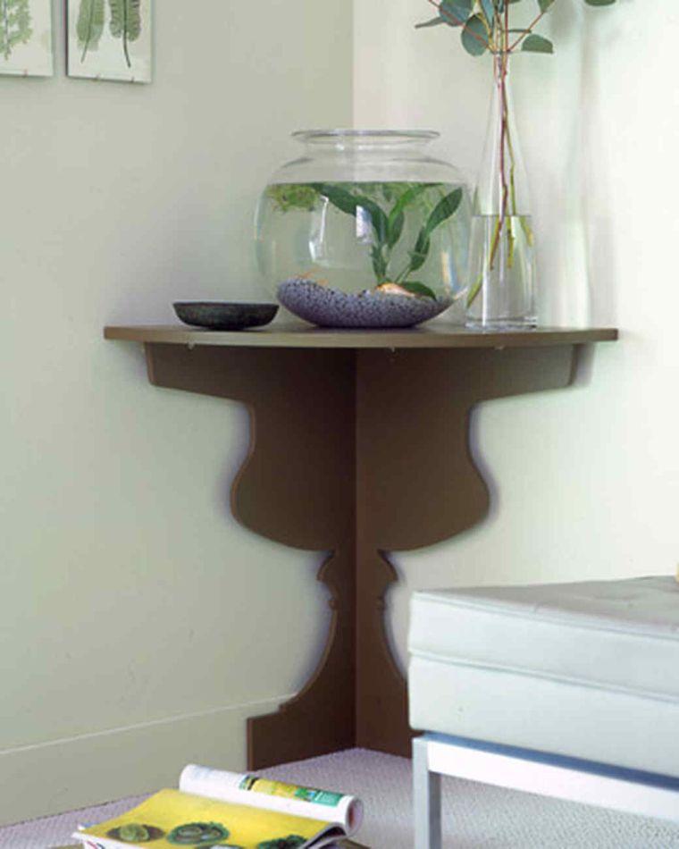 modele de rangement chambre meuble d'angle table de nuit