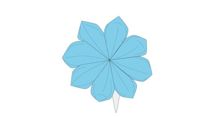 origami fleur florissant-petales-instructions