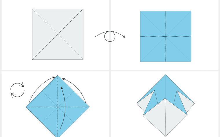 origami fleur pliage-papier-etapes-tuto