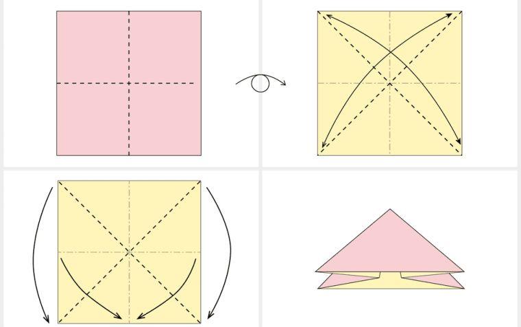 origami fleur tulipe-petales-feuilles-tutoriel