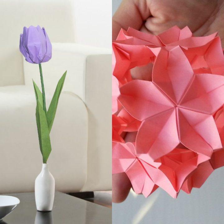 Origami fleur, l'art japonais se met au service de la DIY déco florale !