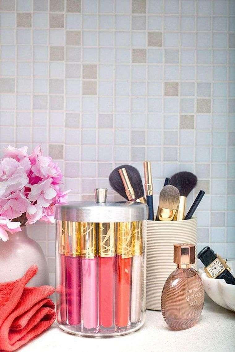 rangements maquillage cgambre salle de bain diy deco rangement astuces