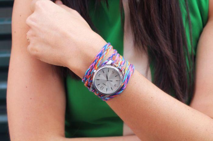modele bracelet montre a faire soi meme corde tuto bricolage