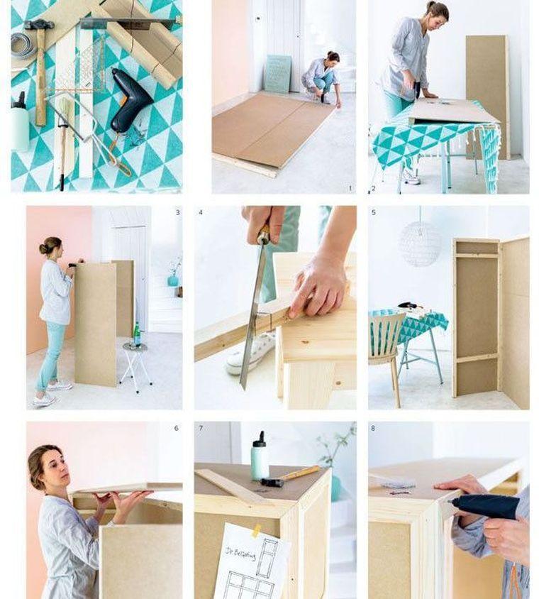 tuto bricolage meuble rangement diy deco chambre tete de lit originale a fabriquer