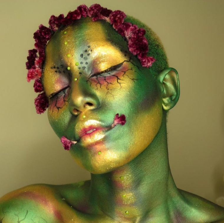 costume-pour-halloween-peinture-visage-maquillage