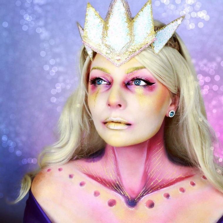 deguisement-halloween-fille-princesse-maquillage