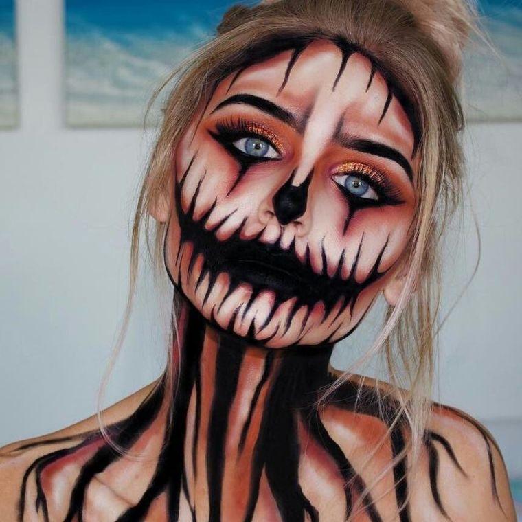 deguisement-pour-halloween-effrayant-femme-fille