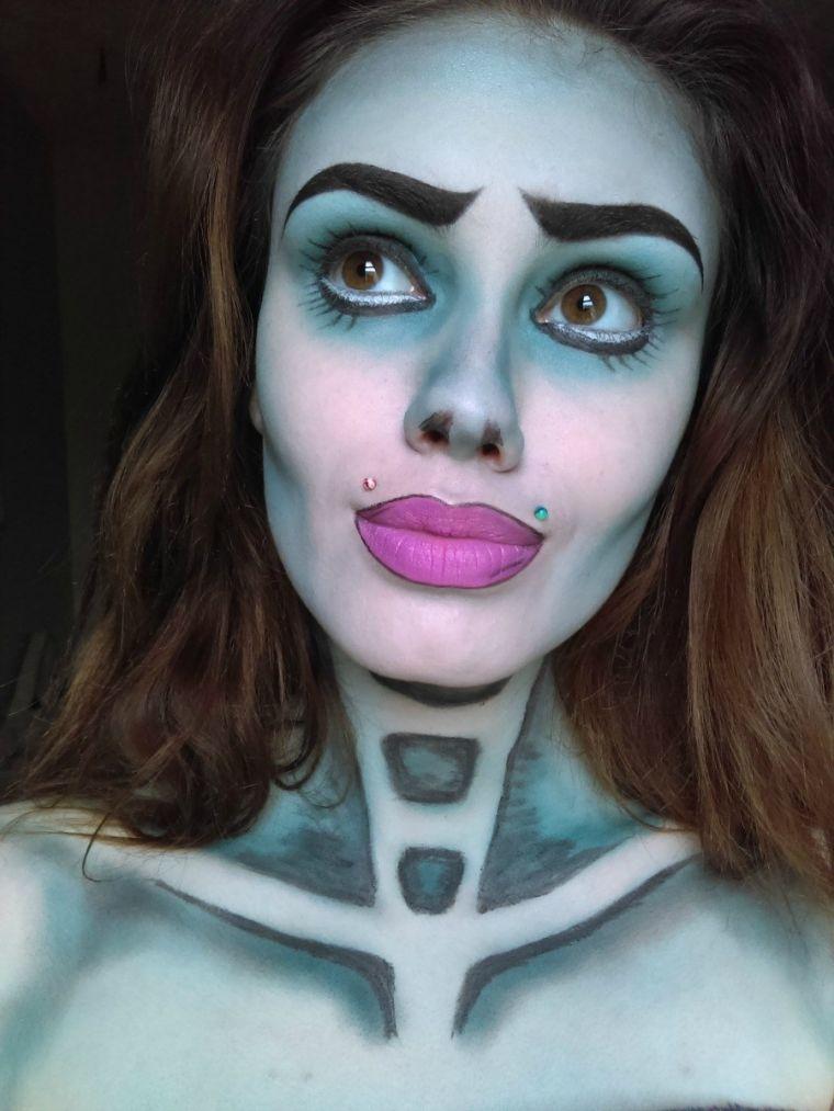 halloween-makeup-idee-femme-tete-de-mort