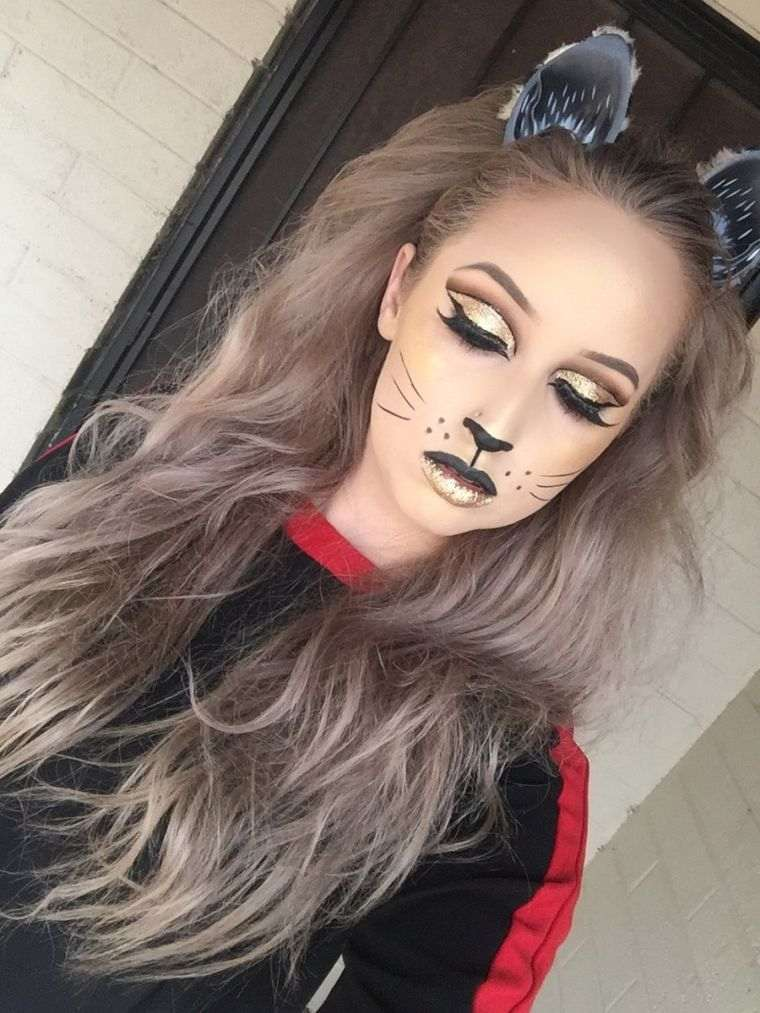 halloween-maquillage-chat-femme