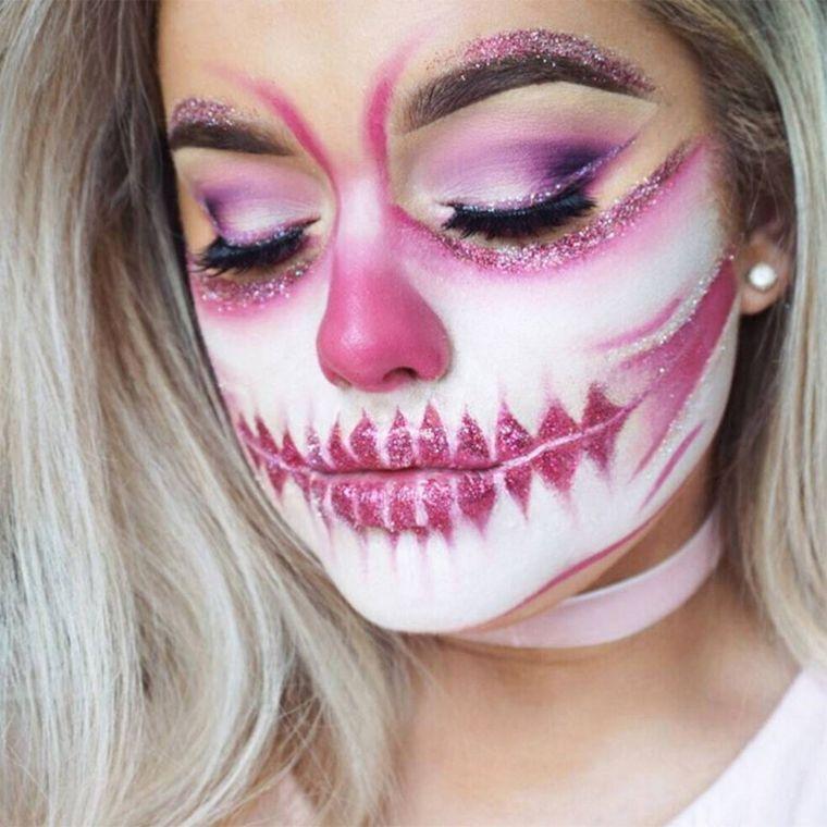 halloween-tete-de-mort-femme-maquillage