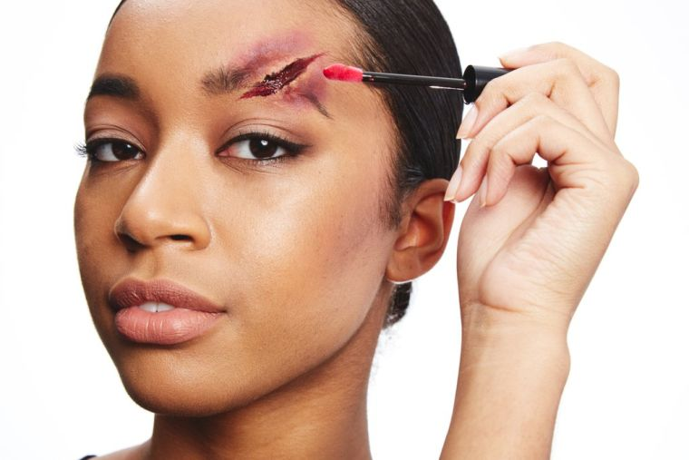 idée maquillage halloween effrayant pour-femme-instagram