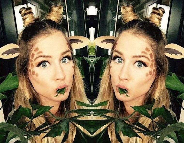 idée maquillage halloween femme giraffe