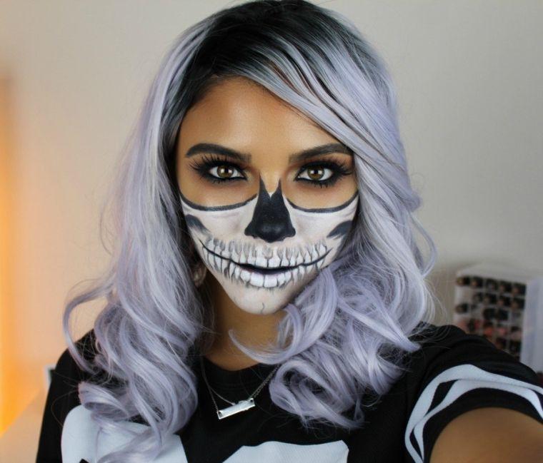 maquillage-facile-pour-halloween-tete-de-mort