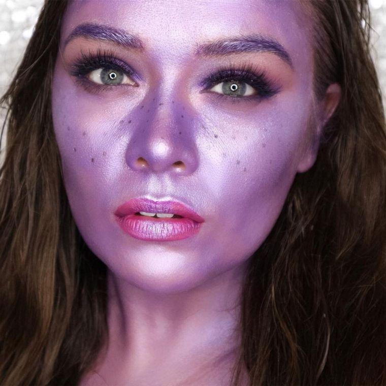maquillage-femme-halloween-idee-violet