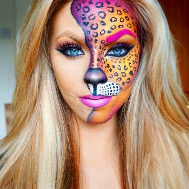 maquillage-halloween-femme-chat-tigresse
