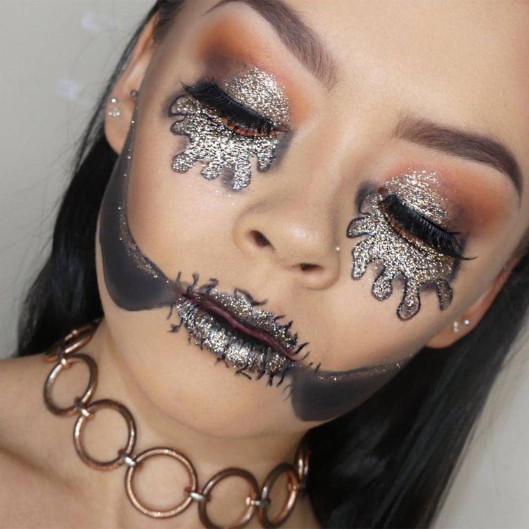 maquillage-tete-de-mort-halloween-femme-idees