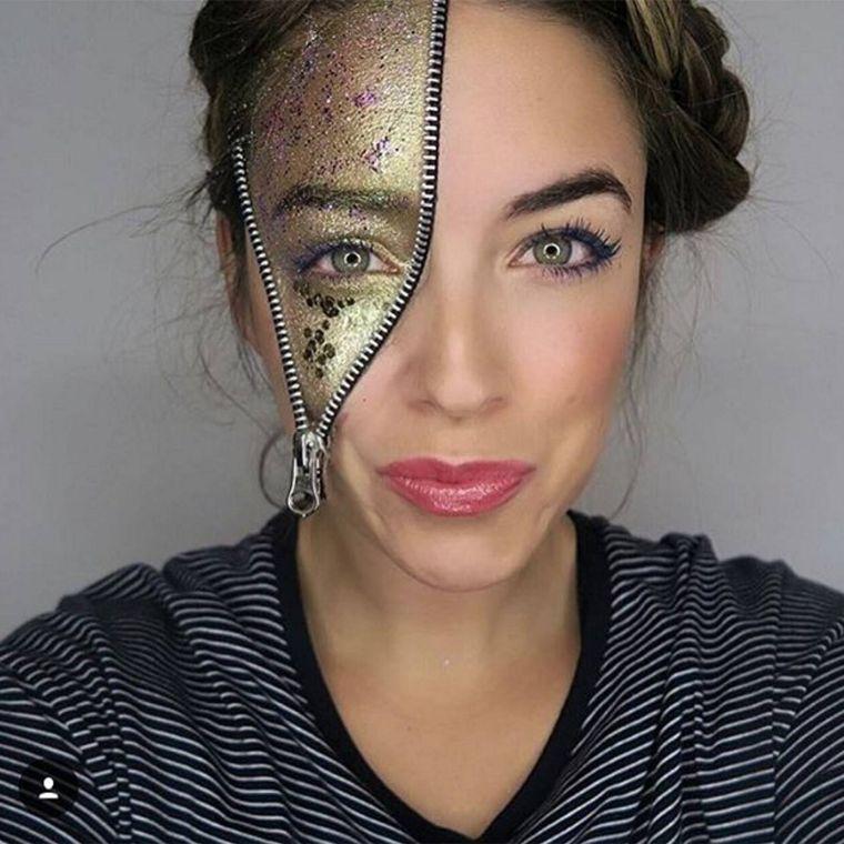 maquillage-visage-femme-halloween-idee-effrayante