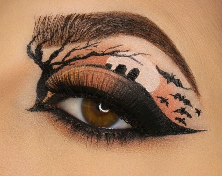 maquillage-yeux-halloween-idee-effrayantes