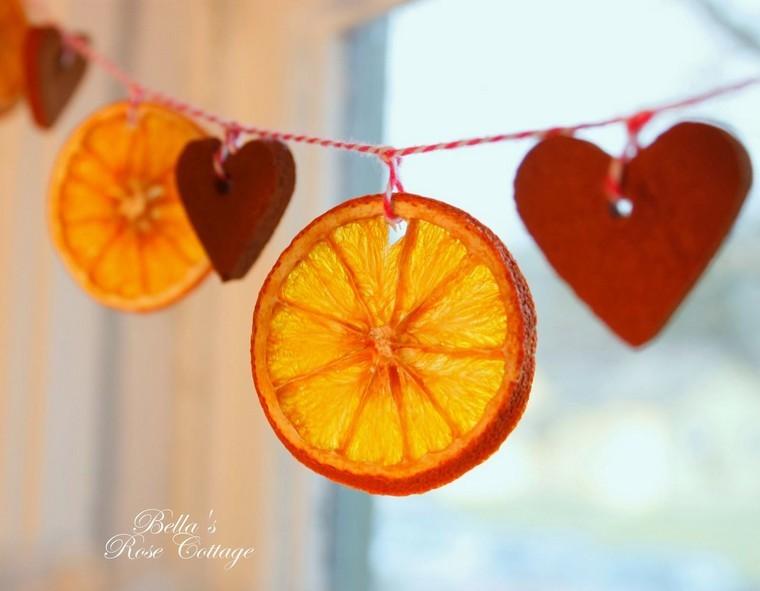 tuto déco Noël guirlande orange idées