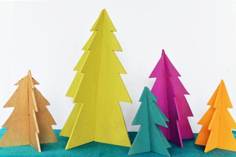sapin en bois contreplaqué en-couleur-peinture