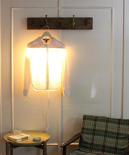 Déco DIY: lampe – chemise très originale