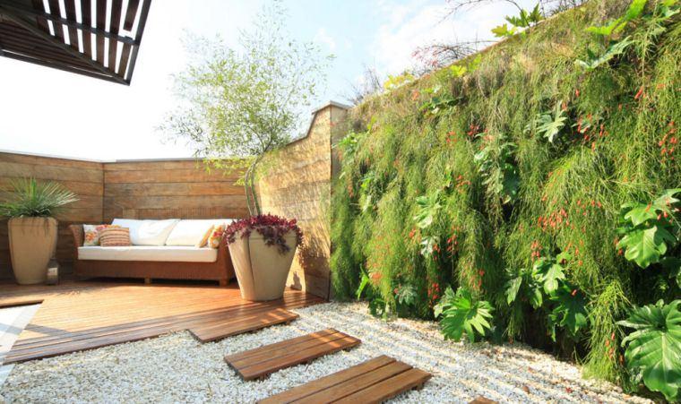 mur végétal terrasse et jardin