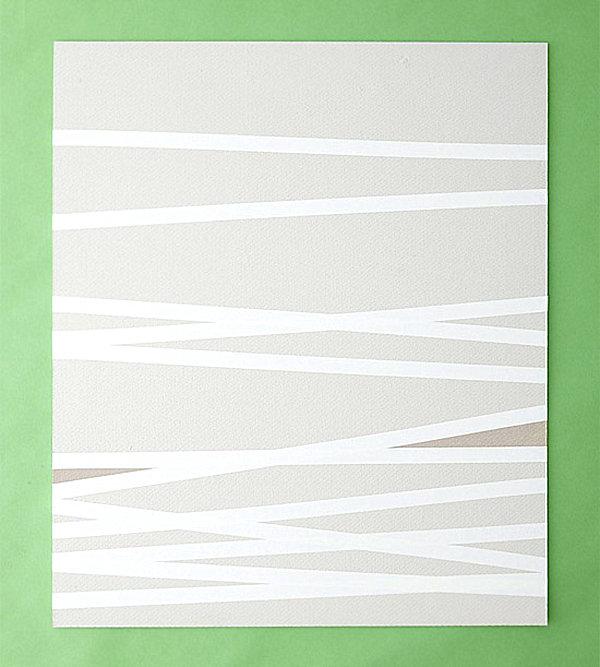 papier DIY vert blanc minimaliste