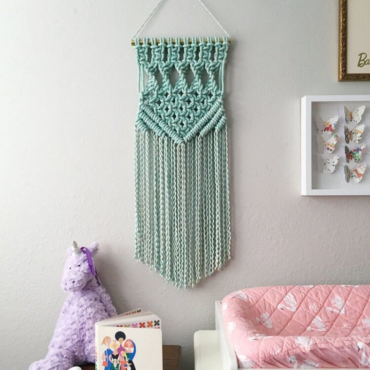 macrame-vert-clair-suspension-decorer-mur