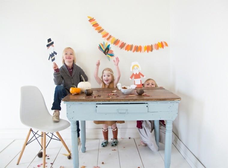 activité enfant pâques bricolage idée guirlande carton papier déco mur