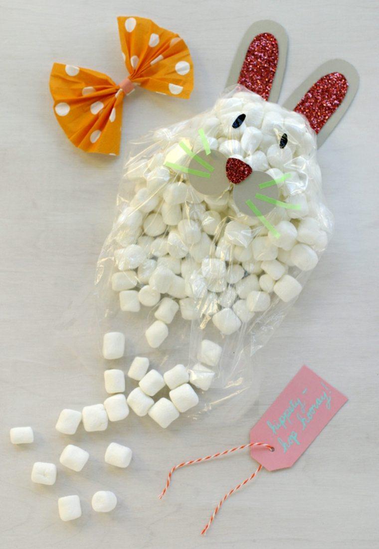 décoration pâques lapin bonbons idée bricolage enfant idée activité manuelle