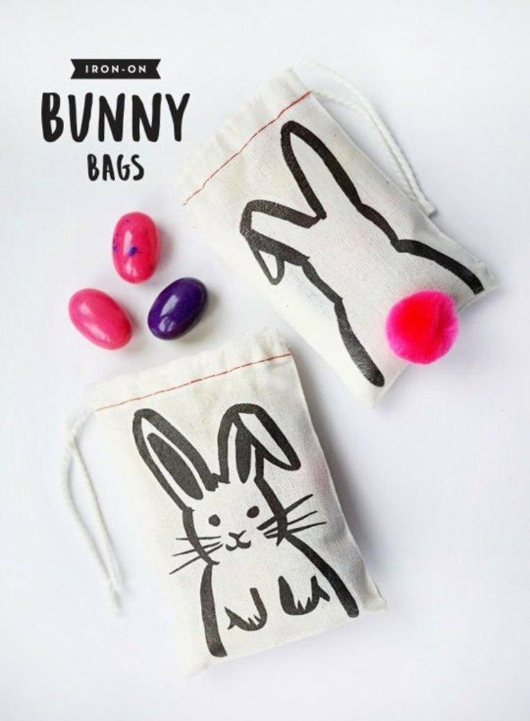 pâques bricolage idée sac diy lapin activité manuelle enfant diy