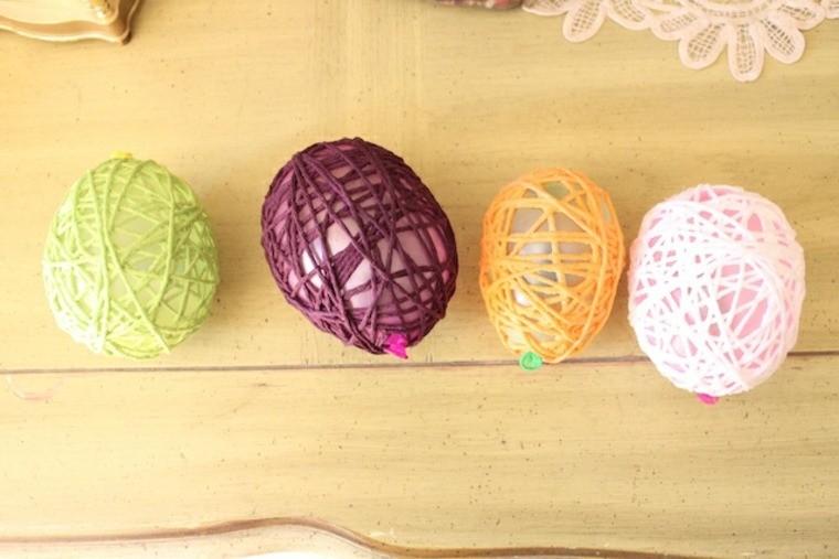 bricolage pâques idée oeufs laine diy décoration pour paques originale enfant bricolage