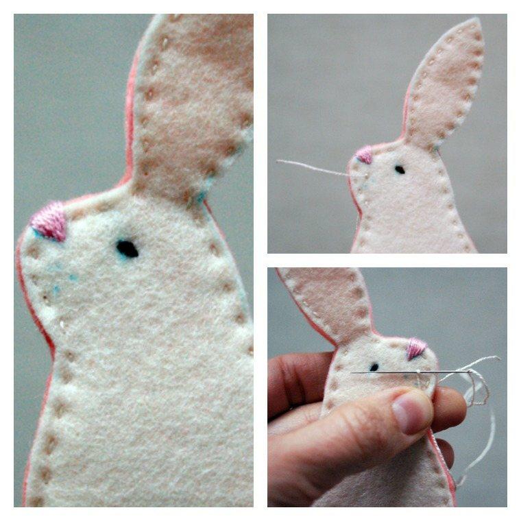 bricolage pour enfant pâques facile diy idée lapin tissu