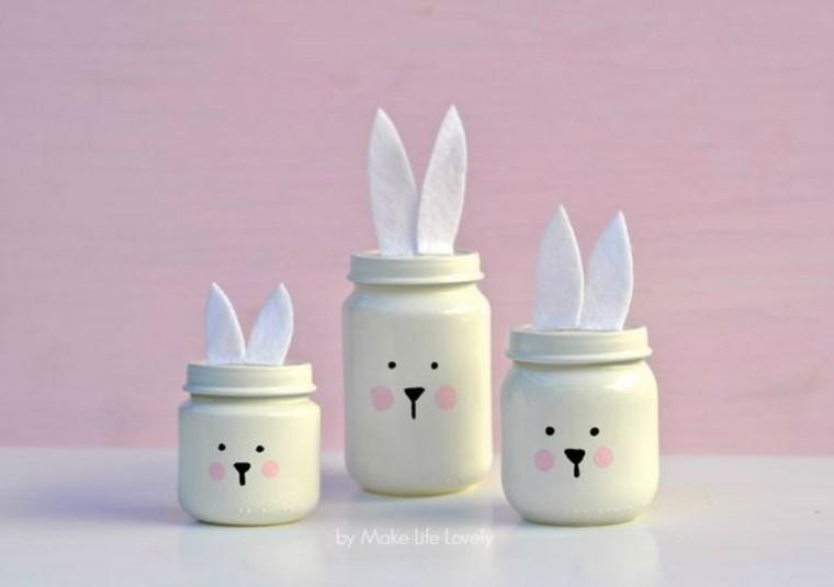pâques bricolage enfant idée pot oreilles lapin déco pour pâques original à fabriquer soi-même
