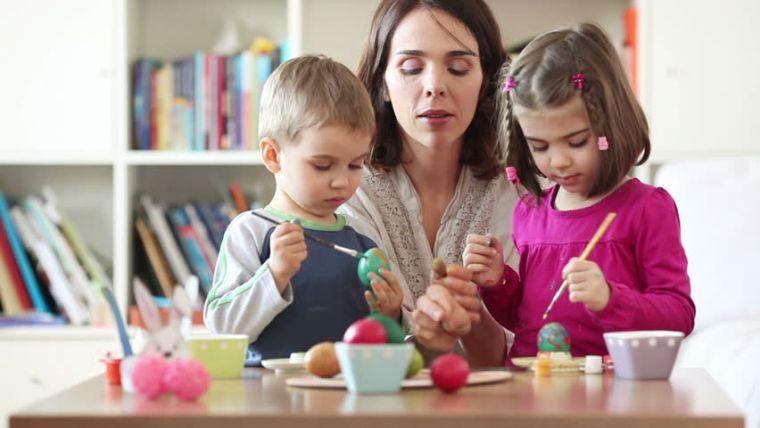 déco de Pâques à faire soi-même avec enfants idees oeufs