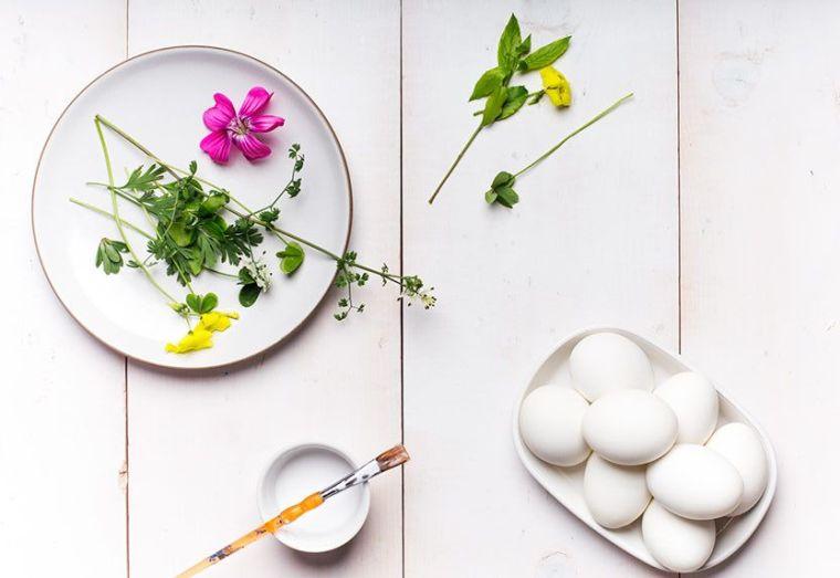 déco de Pâques à faire soi-même oeuf decores fleur