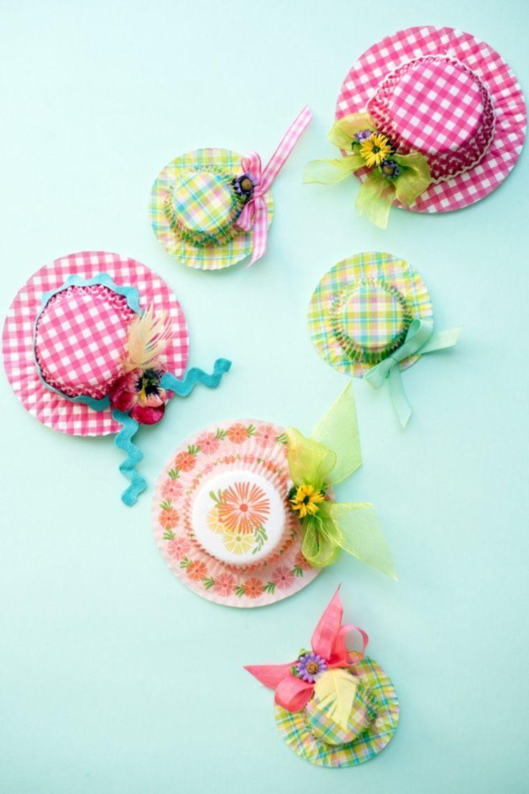 bricolage de pâques diy idée chapeau carton décoration